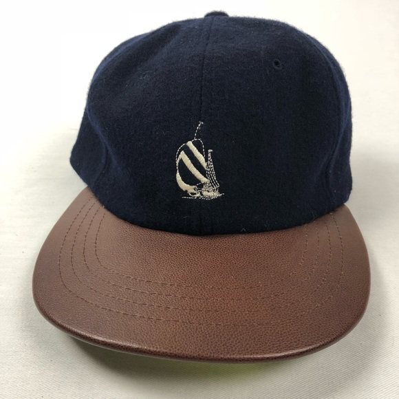 2f864774 Vintage 90's Nautica dad hat wool & leather. M_5b044aca5521be6612a1d2f5